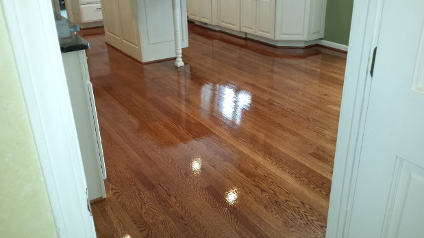 English Chestnut Hardwood Flooring Refinishing