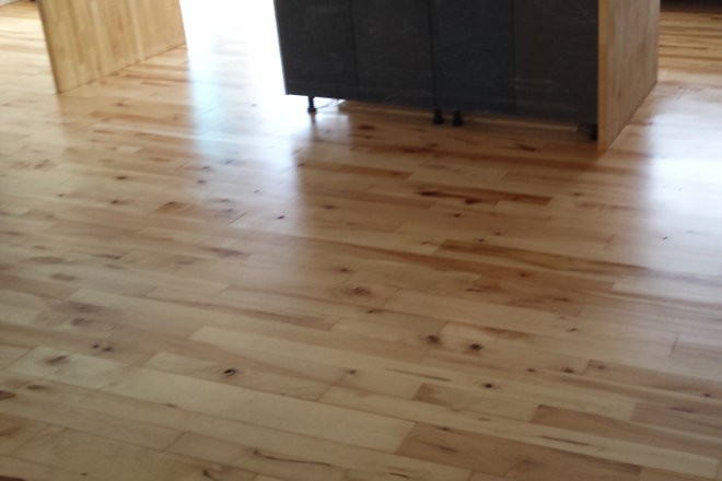 Natural Maple Hardwood Flooring Refinished